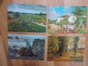 Lot de 4 vederi / carti postale, Grigorescu, Aman, Andreescu
