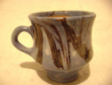 Cana ceramica decorativa cu albastru 8/10 cm