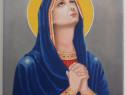 Sfanta maria - pictura in ulei pe panza