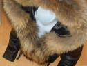 Geci piele naturala si vulpe/made in Italy/calitatea 1
