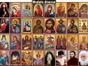 Icoane bizantine si realiste litografiate, vitralii, cruci