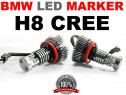 Angel eyes led marker h8 40w 7000k cree bmw e60 lci x5 x6 e9