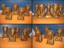 Set vechi 5 Capete Femei stil Empire bronz masiv aurit