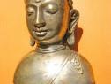 7009-Statuieta bust Zeita India bronz argintat.