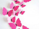 Fluturi decorativi 3D,roz ticlam