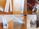 Profil complet Aluminiu pentru prinderea foliei pe solarii