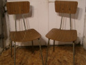 Scaune vechi din metal stil industrial (Mobila / Chairs)
