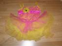 Costum carnaval serbare rochie dans floare margareta copii