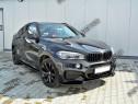 Prelungire lip fusta spoiler bara fata BMW X6 F16 M 14-19 v1