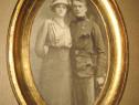Ww1-Foto militar in uniforma cu sotia piesa originala.