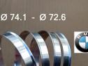 Inele de centrare BMW din Aluminiu 74.1 x 72.6