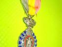A66- Medalia Muncii Belgia alama emailata si argintata.