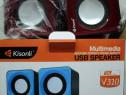 Boxe Audio Kisonli USB NOI Speakers, Kisonli, V310, 2x3W USB