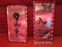 2 decoratiuni vintage cu trandafiri si ratuste -cadou inedit