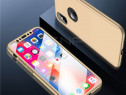 Iphone xs max husa 360 plastic slim fata spate folie sticla