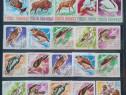 Super clasor plin cu timbre tematica Romania 3 file/6 pagini