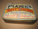 A338-I- Players Navy mixture Cutie tabac veche tutun metal.