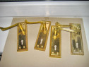 A356-Set 4 Shielduri aparatori broaste usi bronz masiv aurit