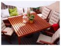 Masă gradina lemn masiv de accacia 140x140 Applaro Ikea exte