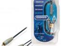 Cablu audio RCA Subwoofer Tata - 2x RCA Tata, 10m, Bandridge