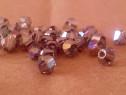 Margele, cristale bicone Swarovski, sampanie, 4mm - HANDMADE