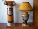 Veioză ceramică și coloană romană ceramică