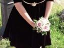 Rochie de catifea neagra marimea M