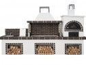 Gratar gradina Atena cu protap, cuptor si chiuveta