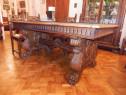 Masa si scaune sufragerie stil florentin, stare foarte buna