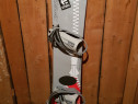 Placă snowboard Zipper, cu legături,155 cm