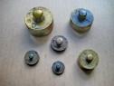 B185-Grup 6 greutati bronz vechi marimi de la 5 la 200 grame