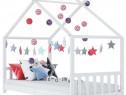 Cadru de pat de copii, alb, 80 x 160 cm, lemn 283368