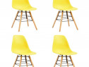 Scaune de bucătărie, 4 buc., galben, plastic 248269