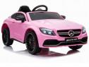 Masinuta electrica mercedes c63 12v premium #roz