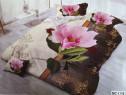 Lenjerie 3D pentru pat dublu 4 Piese Milano Home Collection