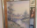 Tablou vechi pictat si semnat de swan 5