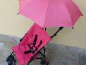Carucior Hauck sport, usor, cu umbrela, roz