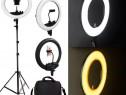 Lampa Circulara Led 35cm 60W cosmetica makeup studio foto