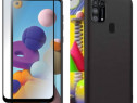 Samsung A21S A41 A51 A71 Husa Silicon + Folie Sticla Curbata
