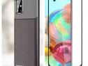 Samsung A21S A51 A71 A50 A70 A30S Husa Silicon Carbon +Folie