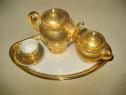 B756-Set cafea copii miniatura decor portelan aurit. Lungime