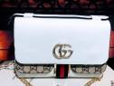 Geanta Gucci mini import Italia logo metalic auriu/