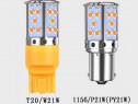 Bec LED leduri marsarier semnalizare T20 W24W P21W PY21W