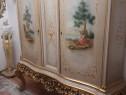 Comoda bar/dulap vintage/antic/baroc venetian,lemn,pictat