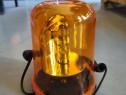 Girofar 12V galben cu prindere pe magnet