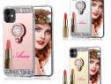 Husa oglinda cu pietricele + inel iPhone 12 Mini, 12 Pro Max