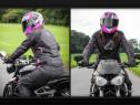 Geaca moto femei – cu protectii – Agrius Geini roz