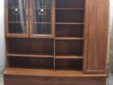Biblioteca living 1,8 m cu rafturi si usi; Comoda cu polite