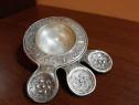 Sită/strecuratoare alpaca argintata -veche de colecție