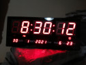 Ceas de perete electronic 36cm pe15 cm